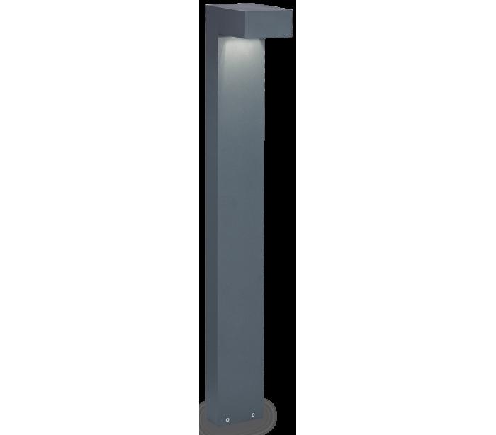 SIRIO Bedlampe i aluminium og glas H80 cm 2 x G9 – Antracit/Klar fra Ideal Lux – Fumagalli