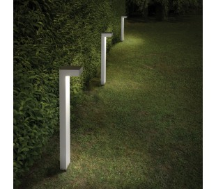 SIRIO Bedlampe i aluminium og glas H60 cm 2 x G9 - Hvid/Klar