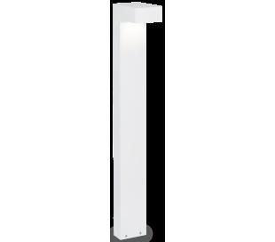 SIRIO Bedlampe i aluminium og glas H80 cm 2 x G9 - Hvid/Klar