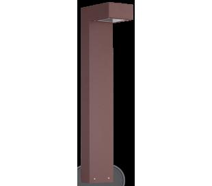 SIRIO Bedlampe i aluminium og glas H60 cm 2 x G9 - Brun/Klar