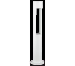 ACQUA Bedlampe i aluminium og glas H60 cm 1 x G9 - Hvid/Klar