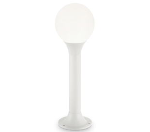 GREEN Bedlampe i aluminium og polycarbonat H60 cm 1 x E27 - Hvid/Hvid