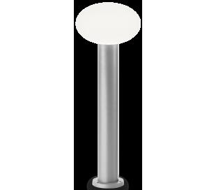 ARMONY Bedlampe i aluminium og plast H78 cm 1 x E27 - Grå/Hvid