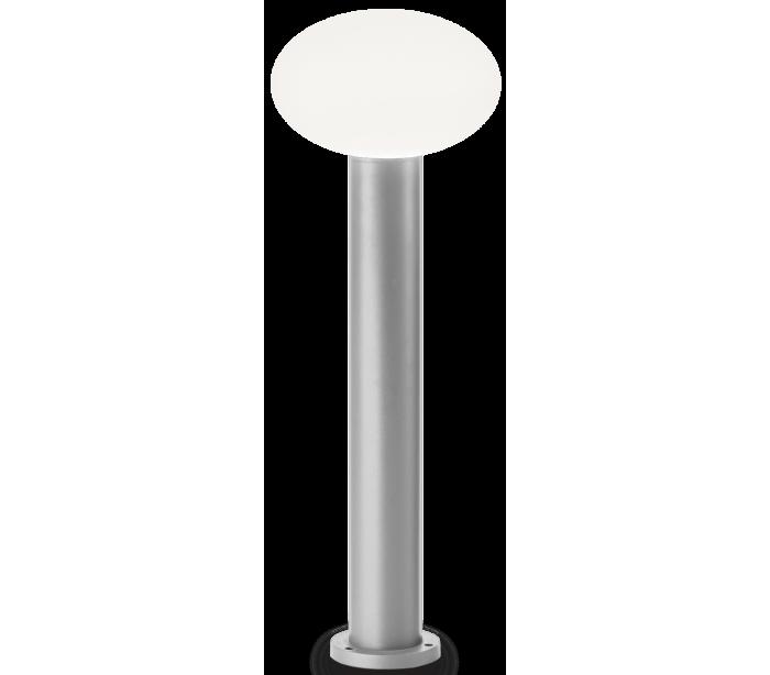 Image of   ARMONY Bedlampe i aluminium og plast H78 cm 1 x E27 - Grå/Hvid
