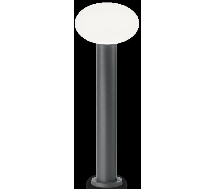 Image of   ARMONY Bedlampe i aluminium og plast H78 cm 1 x E27 - Antracit/Hvid