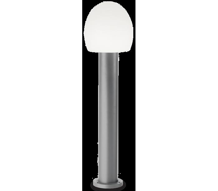 Image of   CONCERTO Bedlampe i aluminium og plast H83,5 cm 1 x E27 - Grå/Hvid