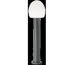 CONCERTO Bedlampe i aluminium og plast H83,5 cm 1 x E27 - Antracit/Hvid