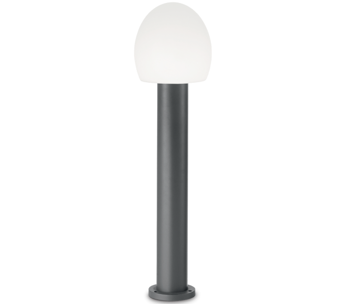 Image of   CONCERTO Bedlampe i aluminium og plast H83,5 cm 1 x E27 - Antracit/Hvid