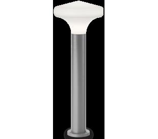 SOUND Bedlampe i aluminium og plast H80 cm 1 x E27 - Grå/Hvid