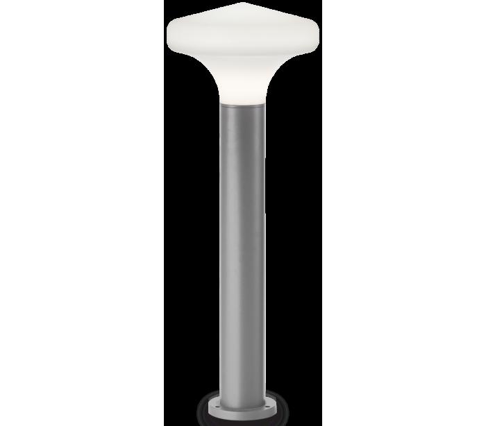 Sound bedlampe i aluminium og plast h80 cm 1 x e27 - grå/hvid fra ideal lux - fumagalli på lepong.dk