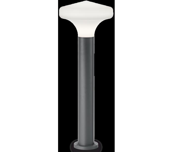 ideal lux - fumagalli – Sound bedlampe i aluminium og plast h80 cm 1 x e27 - antracit/hvid på lepong.dk