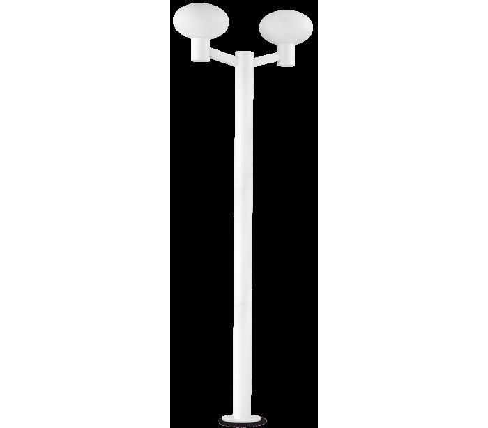 Image of   ARMONY Dobbelt Bedlampe i aluminium og plast H215 cm 2 x E27 - Hvid/Hvid