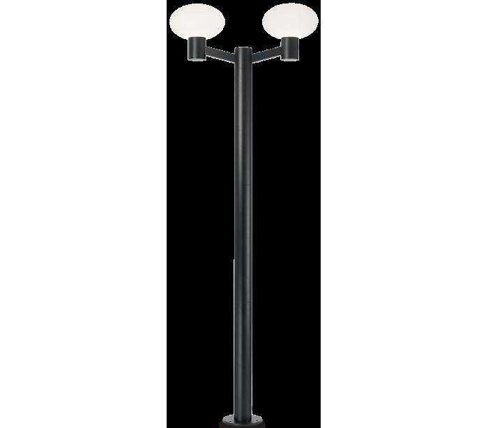 Image of   ARMONY Dobbelt Bedlampe i aluminium og plast H215 cm 2 x E27 - Sort/Hvid