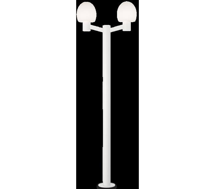 Image of   CONCERTO Dobbelt Bedlampe i aluminium og plast H220,5 cm 2 x E27 - Hvid/Hvid