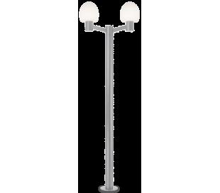 CONCERTO Dobbelt Bedlampe i aluminium og plast H220,5 cm 2 x E27 - Grå/Hvid