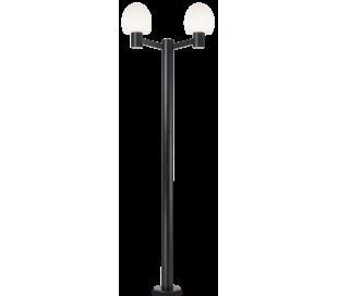 CONCERTO Dobbelt Bedlampe i aluminium og plast H220,5 cm 2 x E27 - Sort/Hvid