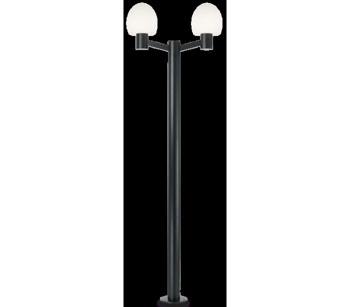 Image of   CONCERTO Dobbelt Bedlampe i aluminium og plast H220,5 cm 2 x E27 - Sort/Hvid