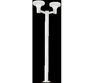 SOUND Dobbelt Bedlampe i aluminium og plast H217 cm 2 x E27 - Hvid/Hvid