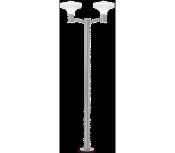 ideal lux - fumagalli Sound dobbelt bedlampe i aluminium og plast h217 cm 2 x e27 - grå/hvid fra lepong.dk