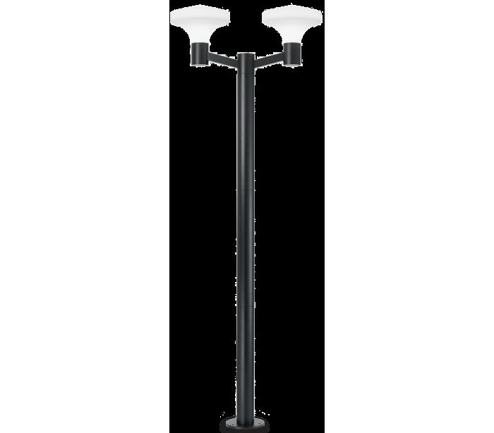 Sound dobbelt bedlampe i aluminium og plast h217 cm 2 x e27 - sort/hvid fra jesper home på lepong.dk