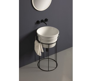 Understativ til Bacile håndvask H71,5 cm - Mat sort