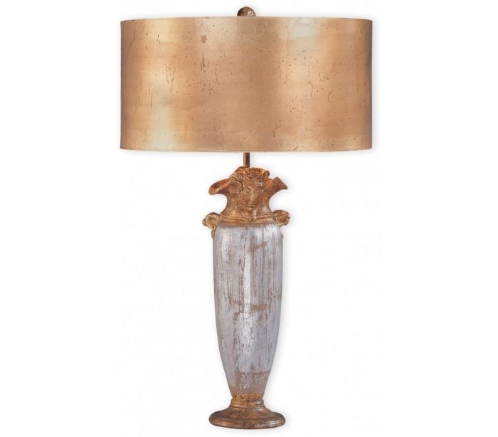 Image of   BIENVILLE Bordlampe H76 cm 1 x E27 - Antik sølv/Antik guld
