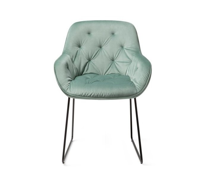 2 x Tara Spisebordsstole H84 cm velour – Sort/Jadegrøn fra Selected by Lepong