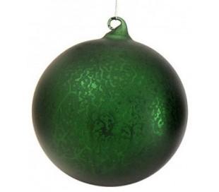 Julekugle i glas Ø15 cm - Grøn