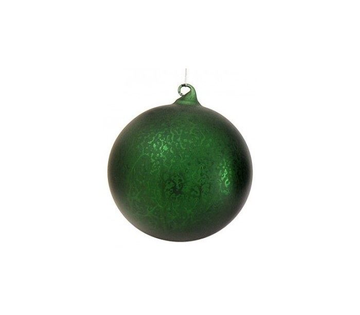 julekugle i glas ø15 cm - grøn fra vical home