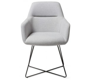 2 x Kinko Spisebordsstole H84 cm polyester - Sort/Grå