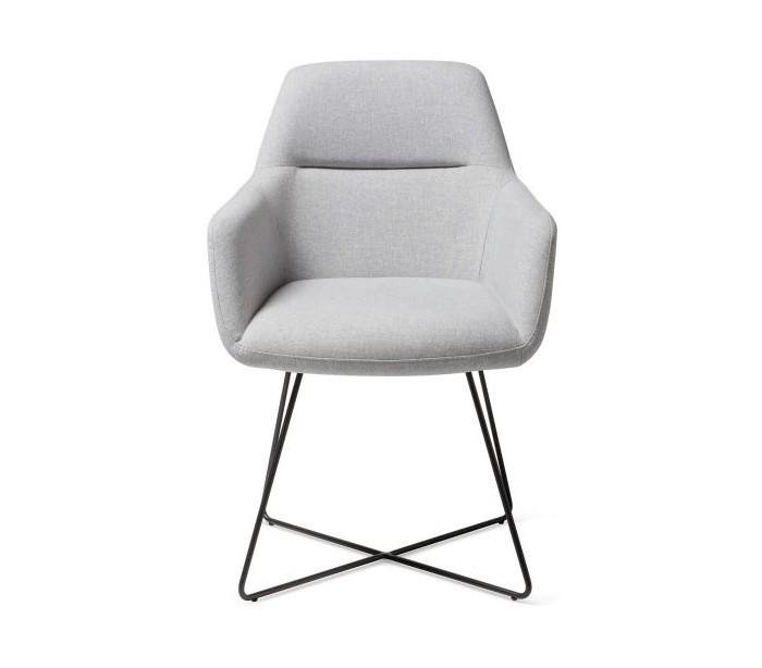 Image of   2 x Kinko Spisebordsstole H84 cm polyester - Sort/Grå