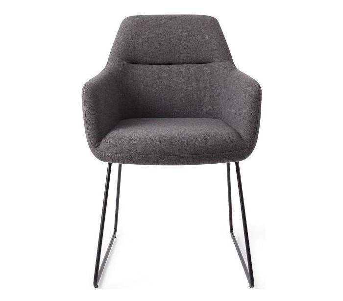 Image of   2 x Kinko Spisebordsstole H84 cm polyester - Sort/Mørkegrå