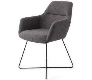 2 x Kinko Spisebordsstole H84 cm polyester - Sort/Mørkegrå