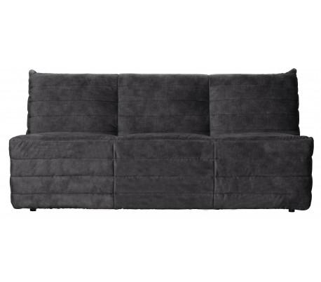 Moderne 2,5-personers sofa i velour 160 x 90 cm – Antracit