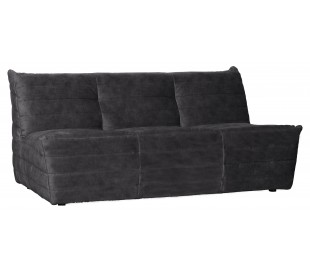 Moderne 2,5-personers sofa i velour 160 x 90 cm - Antracit