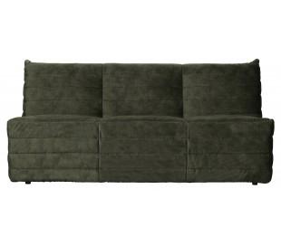 Moderne 2,5-personers sofa i velour 160 x 90 cm - Grøn