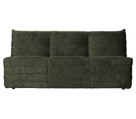Moderne 2,5-personers sofa i velour 160 x 90 cm – Grøn