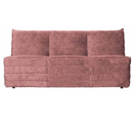 Moderne 2,5-personers sofa i velour 160 x 90 cm – Rosa