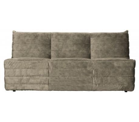 Moderne 2,5-personers sofa i velour 160 x 90 cm – Sand