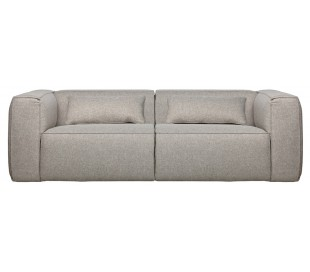 Moderne 3,5 personers sofa i polyester 246 x 96 cm - Lysegrå