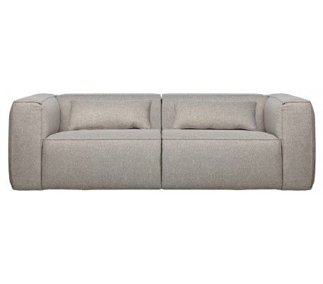 Moderne 3,5 personers sofa i polyester 246 x 96 cm – Lysegrå