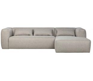 Moderne hjørnesofa i polyester 305 x 175 cm - Lysegrå
