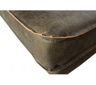 Daybed sofa i læder B203 cm - Vintage armygrøn