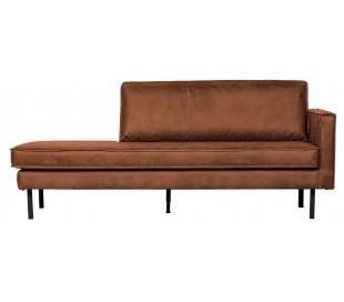 Daybed sofa i læder B203 cm - Vintage cognac