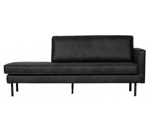 Daybed sofa i læder B203 cm - Vintage sort