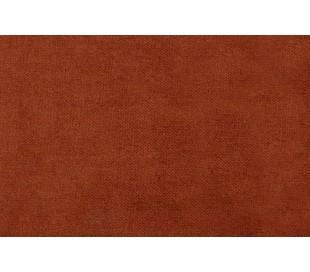 Sofa med venstrevendt chaiselong i velour 300 x 155 cm - Rust