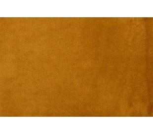 Sofa med venstrevendt chaiselong i velour 300 x 155 cm - Okker