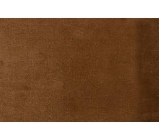 Sofa med venstrevendt chaiselong i velour 300 x 155 cm - Honninggul