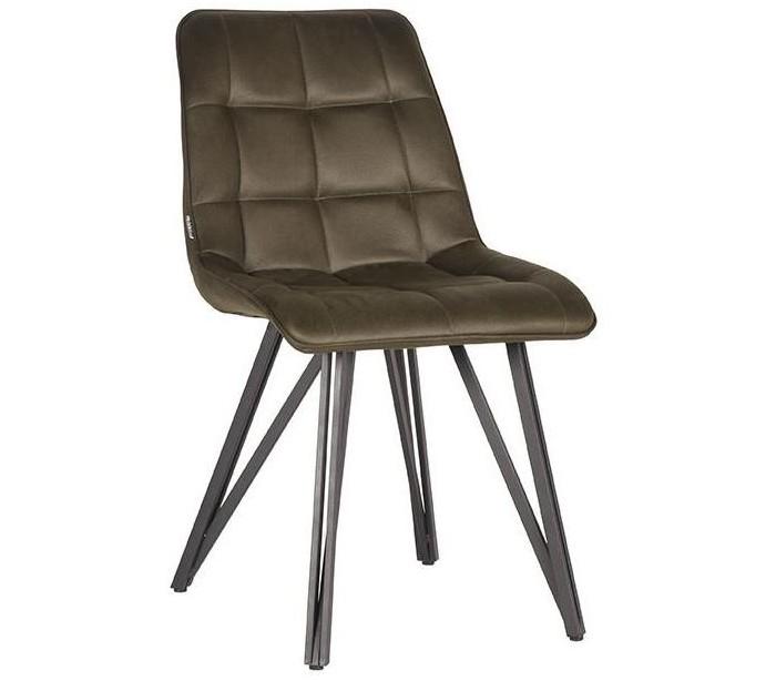 Boaz spisebordsstol i microfiber H86 cm - Vintage armygrøn