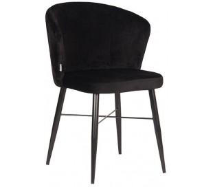 Wave spisebordsstol i velour H85 cm - Sort